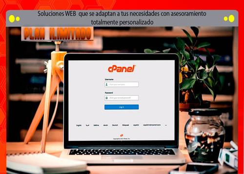 hosting anual + cpanel + dominio + pagina web en wordpres