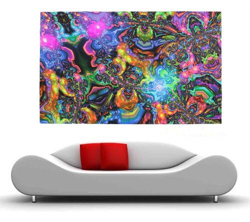 hot 100cmx60cm psicodélico tríptico arte de seda póster foto