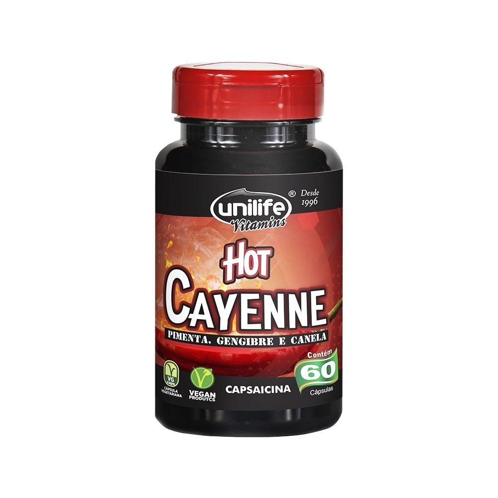 Hot Cayenne Pimenta Caiena Canela Gengibre 60 Cápsulas Unilife