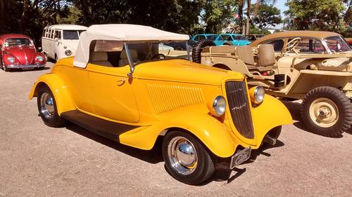 hot rod ford 1934 v8 conversível chassi de inox  newcar