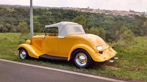 hot rod ford 1934 v8 conversível chassi inox new car