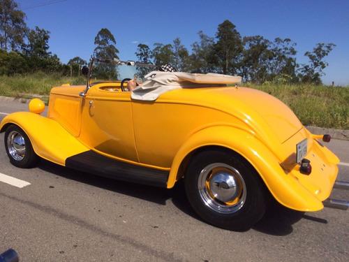 hot rod ford 1934 v8 conversível chassi inox newcar