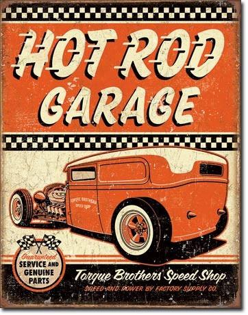 Hot rod garage torque poster metalico vintage retro for Garage jm auto audincourt