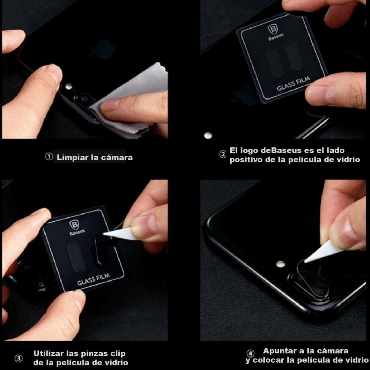 a4efff471bf Hot Sale! Vidrio Templado Cámara iPhone 7 8 Plus Baseus - $ 219,00 ...