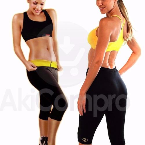 hot shapers pantalon termico neotex, suda y reduce medidas
