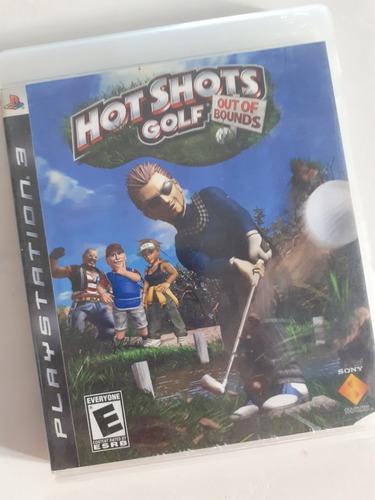 hot shots golf out of bound playstation 3 fisico tomo juegos