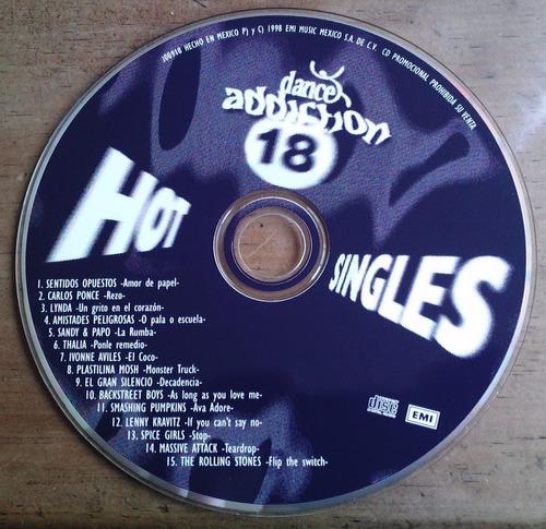 hot singles 18 cd promo cartoncillo 1998. thalia, lynda.