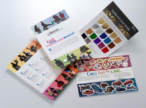 hot stamping foil tradicional - color rojo-azul-cobre-negro