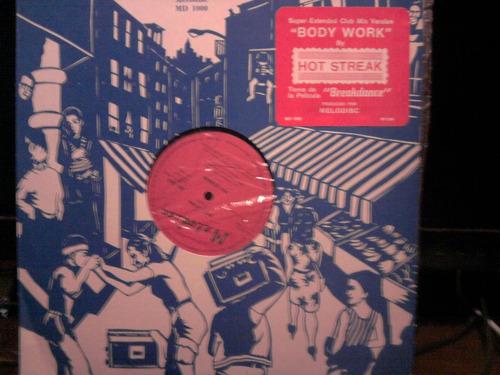 hot streak body work vinilo maxi single nacional