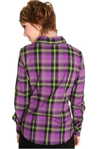hot topic blusa morado lima camisa