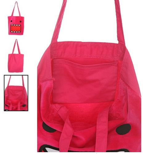 hot topic bolsa rosa / pink domo plush tote