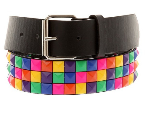 hot topic cinturon arcoiris rainbow checker pyramid