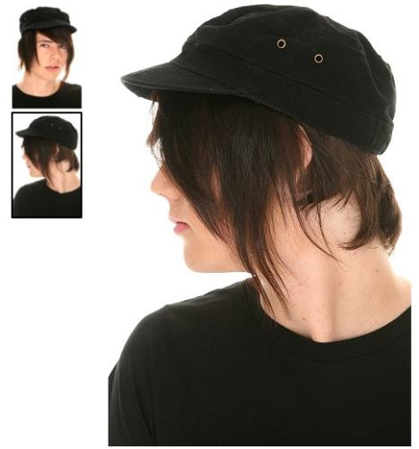 hot topic gorra black cadet hat s-m