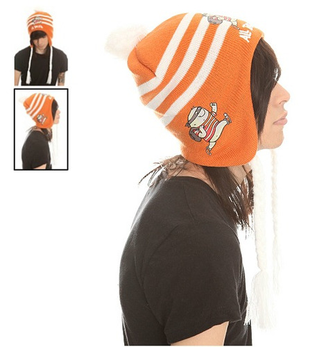 hot topic gorro all time low robber peruvian beanie