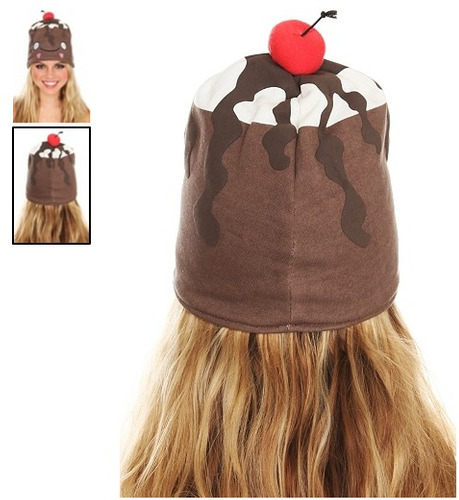 hot topic gorro chocolate sundae hat