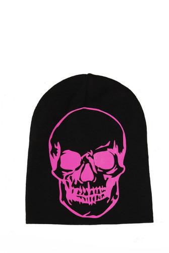 hot topic gorro neon pink skull beanie