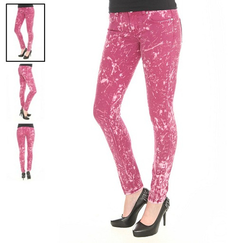 hot topic pantalones lovesick magenta acid w skinny jeans 5