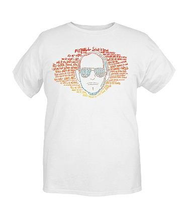 hot topic playera pitbull shut it down typed lyrics t-shirt