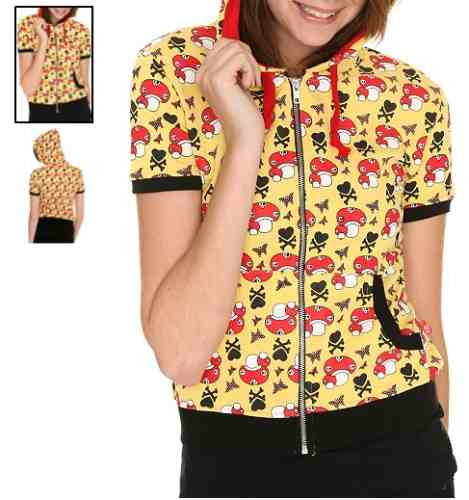 hot topic sudadera mushroom heart and bones hoodie