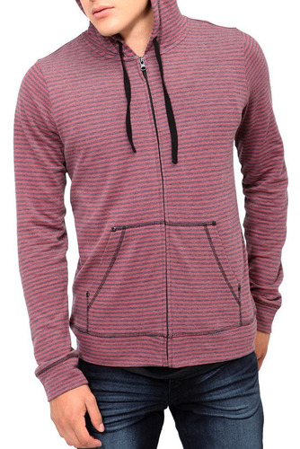hot topic sudadera roja rude black and red striped hoodie