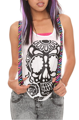 hot topic tirantes glow-in-the dark zebra suspenders