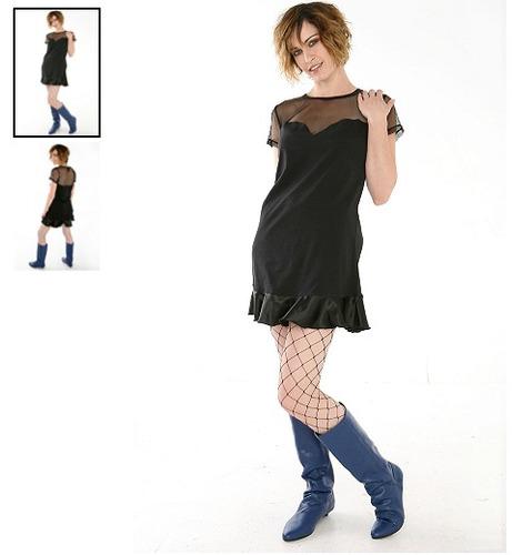 hot topic vestido super low fat mesh tunic dress m
