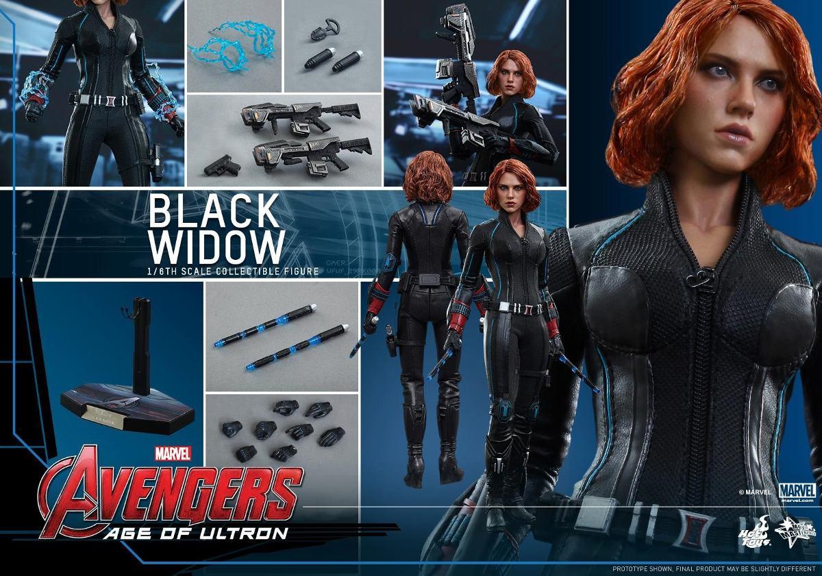 Black Widow Age Ultron: Hot Toys Black Widow Age Ultron Viuva Negra Avengers 2