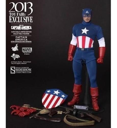 hot toys captain america star spangled  toy fair 2013