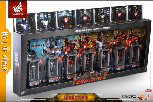 hot toys iron man hall of armor mini