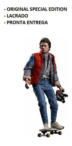 hot toys marty mcfly back to the future exclusiv c/ guitarra