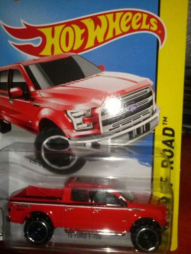 hot wheels 15 ford f-150 roja 2015