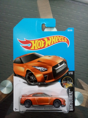 hot wheels '17 nissan gt-r (r35) nightburnerz 1/10