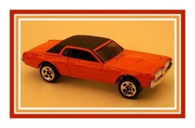 #2006-182 1968 Mercury Cougar Orange Collectible Collector Car Mattel Hot Wheels