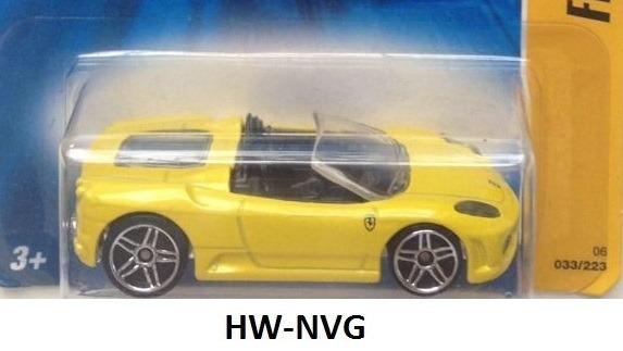 Hot Wheels 2006 Ferrari F430 Spider Amarela Lacrada W7