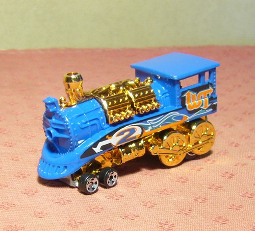 hot wheels 2006: rail rodder locomotora