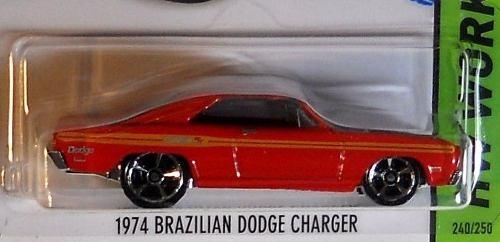 Hot Wheels 2014 74 Brazilian Dodge Charger Vermelho R