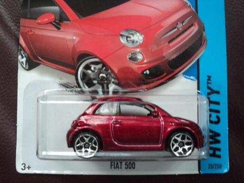 hot wheels 2014 fiat 500 25/250 1/64