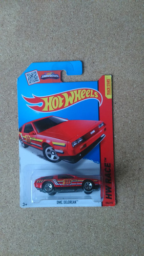 hot wheels 2014 hw city '81 delorean gris, rojo h448