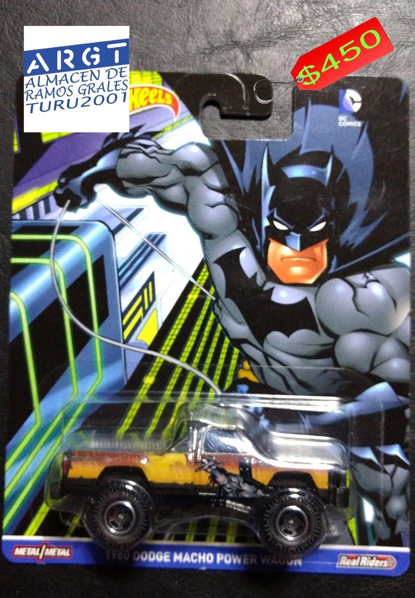 Hot Wheels 2016 1980 Dodge Macho Power Wagon Batman Truck Cargando Zoom