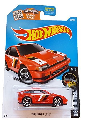 hot wheels, 2016 night burnerz, 1985 honda cr-x [red] #85/2