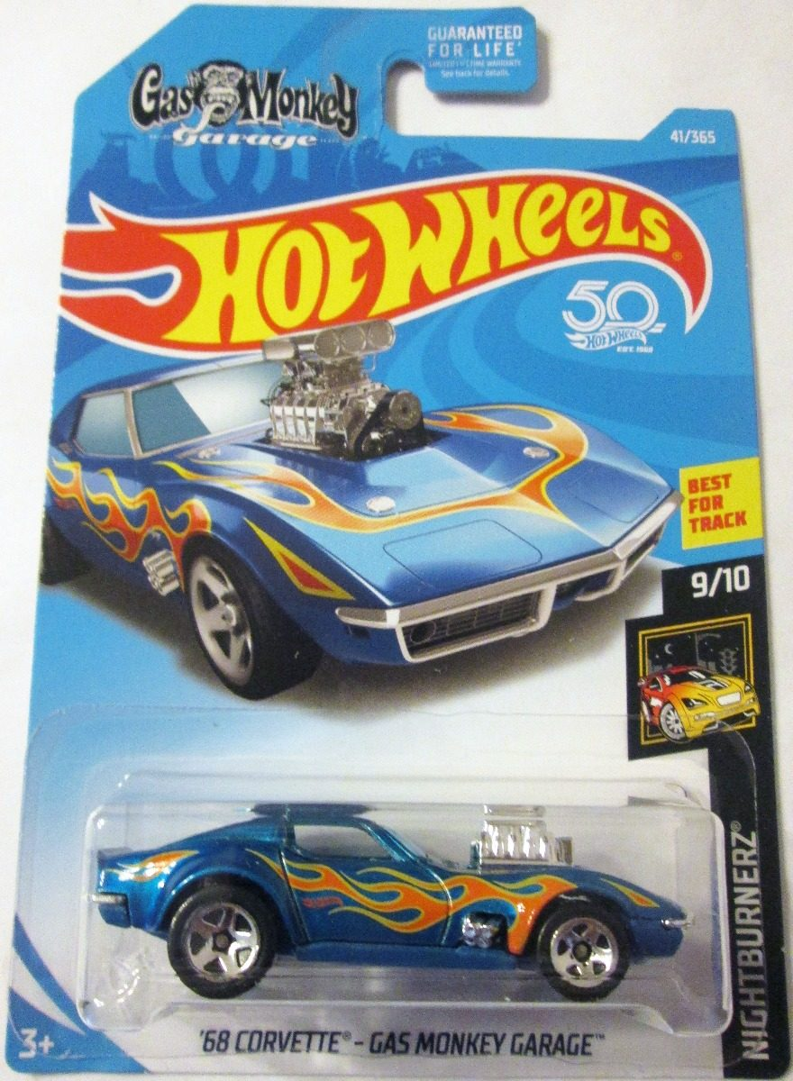 hot wheels 2018 68 corvette gas monkey garage escala 1 64 bs en mercado libre. Black Bedroom Furniture Sets. Home Design Ideas
