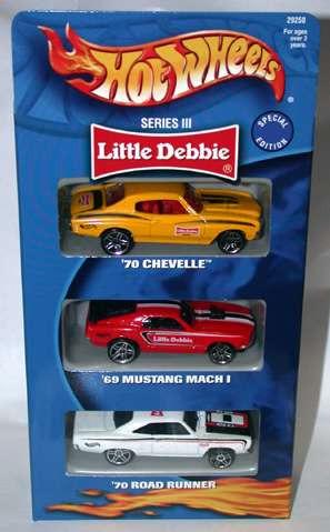 hot wheels 3 pack little debbie series iii (novo, lacrado)