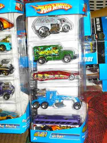 hot wheels 5 packs nº 10 - j3302 urban año 2006