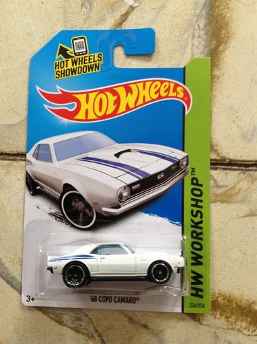hot wheels 68 copo camaro blanco 2014