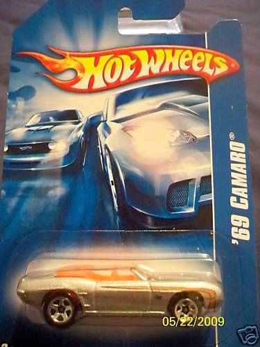 hot wheels 69 camaro plata