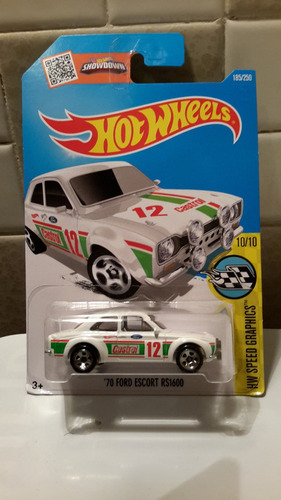 hot wheels 70 ford escort  2015        clave 2604-1