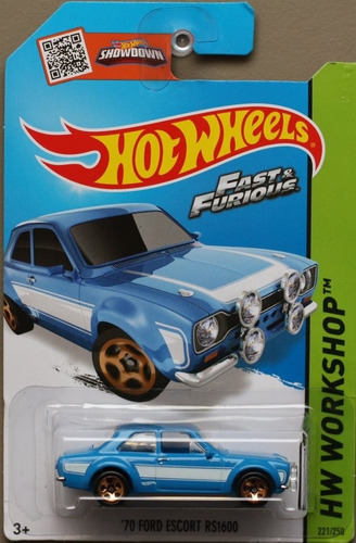 hot wheels 70 ford escort rs1600 fast furious velozes