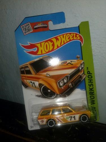 hot wheels 71 datsun bluebird 510 wagon amarillla