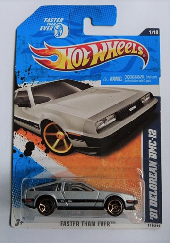 hot wheels 81 delorean dmc-1 back to the future 2010