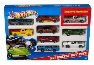 hot wheels 9-car pack de regalo (los estilos pueden variar)